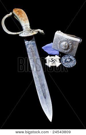 Award, Buckle, Sign, Dagger