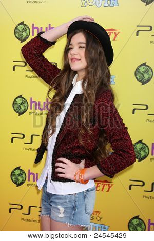 LOS ANGELES - OCT 22:  Hailee Steinfeld arriving at the 2011 Variety Power of Youth Evemt at the Paramount Studios on October 22, 2011 in Los Angeles, CA