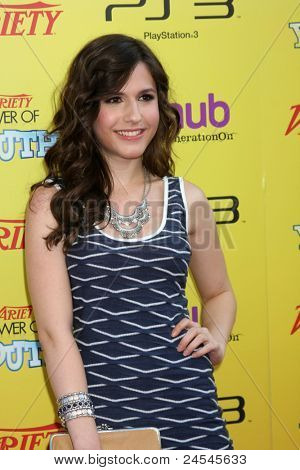 LOS ANGELES - OCT 22:  Erin Sanders arriving at the 2011 Variety Power of Youth Evemt at the Paramount Studios on October 22, 2011 in Los Angeles, CA