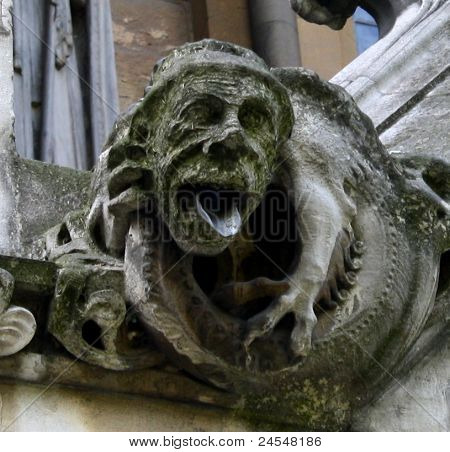 Ancient taunting gargoyle