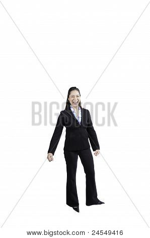 Happy Lady In Business Suit