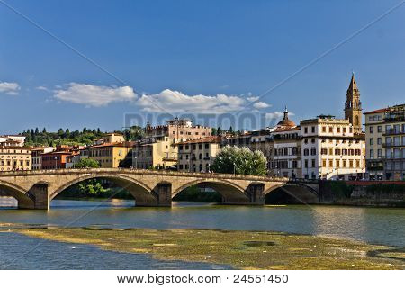 Ponte Alla Carraia In Florence, Italy