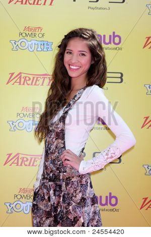 LOS ANGELES - OCT 22:  Kelsey Chow arriving at the 2011 Variety Power of Youth Evemt at the Paramount Studios on October 22, 2011 in Los Angeles, CA