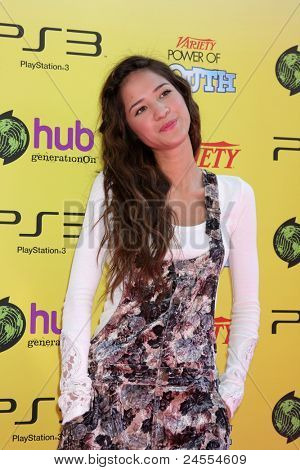 LOS ANGELES - OCT 22:  Kelsey Chow arriving at the 2011 Variety Power of Youth Event at the Paramount Studios on October 22, 2011 in Los Angeles, CA