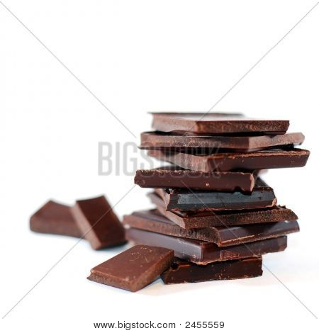 Isolated Chocolate Blocks