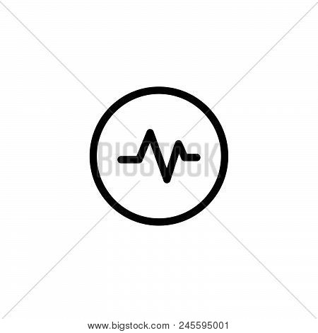 poster of Cardiogram Vector Icon On White Background. Cardiogram Modern Icon For Graphic And Web Design. Cardi