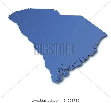 Map of South Carolina - USA