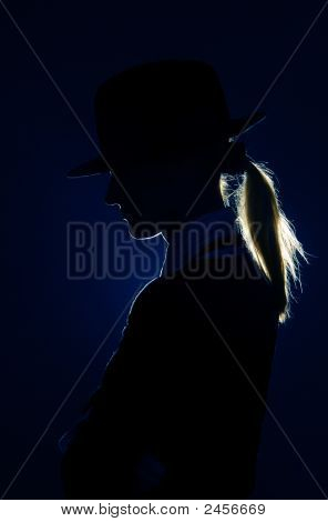 Silhouette In Hat
