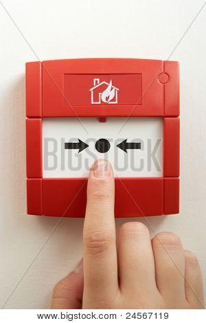 Break-glass fire alarm