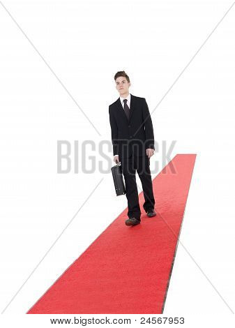 Businessman On A Red Carpet
