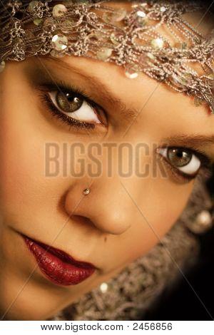 Oriental  Looking Woman