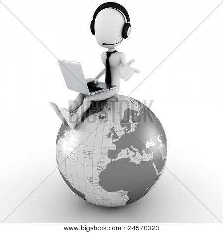 3d man online call center