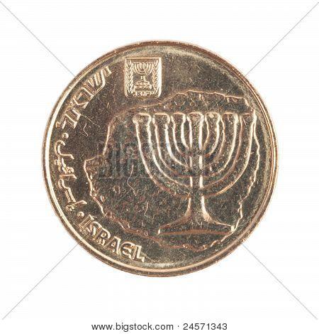 Ten Israeli New Sheqel cents - Back side