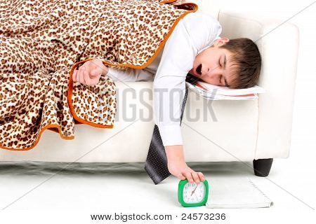 Teenager Sleeping