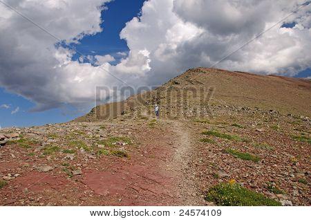 Heading Down An Alpine Trail