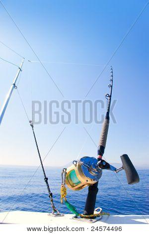 barco trolling com engrenagem de guiga e haste de ouro carretel de pesca