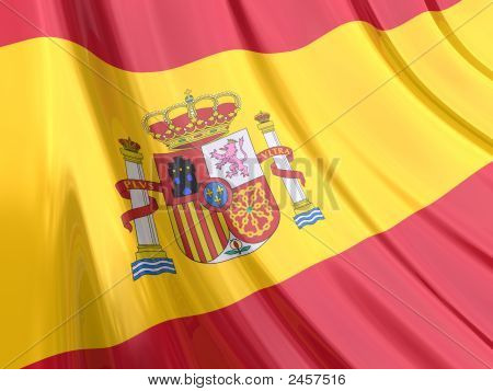 Glossy Flag Of Spain