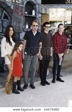 LOS ANGELES - OCT 23: Billy Bob Thornton and family at the premiere of Dreamworks 'Puss In Boots' at the Regency Westwood Theater on October 23, 2011 in Los Angeles, California