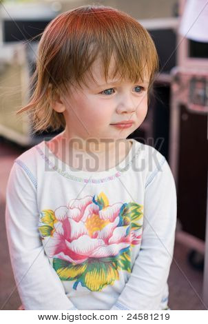 Charming Baby Toddler Girl Having Fun.