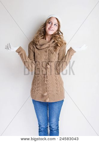 Winter Fashion Girl.