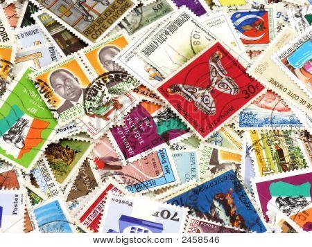 Stamps Closeup