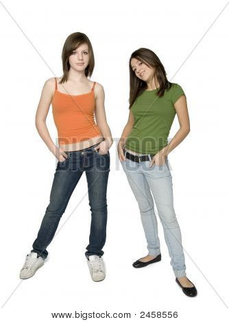 Two Trendy Teen Girls