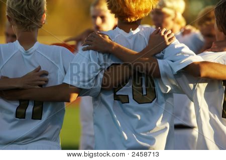 Soccer Huddle Two