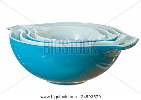 Blue Bowl Isolated