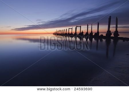 Old Pier at Sunset