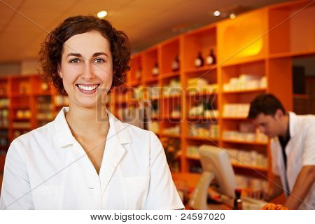 Friendly Pharmacist In Pharmacy
