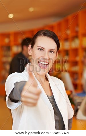 Cheering Pharmacist In Drugstore