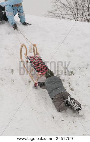 Helping Hand At Snowboard