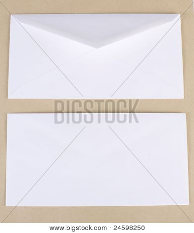 Close Up Of White Envelopes.