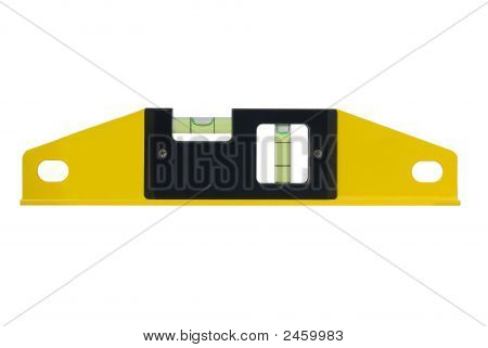 Spirit Level Isolated On White