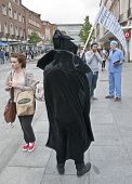 The Grim Reaper prowls the streets and stalks the people of Exeter