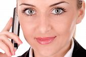 Businesswoman Communication By Mobile Phone
