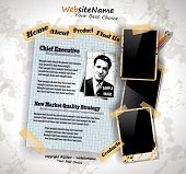 Photo Book Vintage Style Website Template with grungy background and distressed oll look photo frame