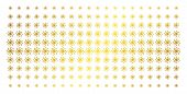 Spiral Galaxy Icon Golden Halftone Pattern. Vector Spiral Galaxy Pictograms Are Arranged Into Halfto poster