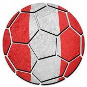 Soccer Ball National Peru Flag. Peru Football Ball. poster