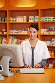 Pharmacist Ordering Medicine With Computer