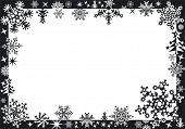 Постер, плакат: Зимние рамы с снежинки