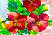 Oil Painting, Impressionism Style, Flower Painting, Still Painting Canvas, Artist, poster