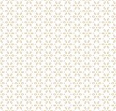 Vector Geometric Gold And White Seamless Pattern In Asian Style. Ornamental Texture With Linear Flor poster