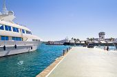 Calvia Puerto Portals Nous luxury yachts in Mallorca Balearic island from Spain