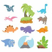 Dinosaur Vector Character Design, Dinosaur Character Collection poster