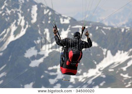 Paragliding Closeup