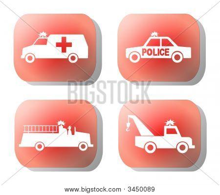 Ilustración de botón de emergencia