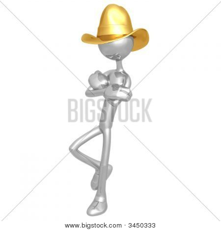 Cowboy Leaning