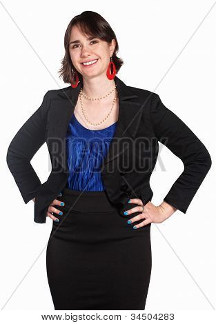 Confident Female Office Worker