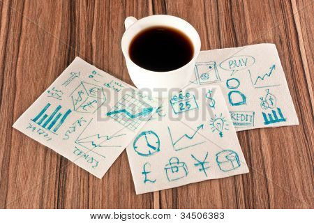 Business Signs On A Napkin